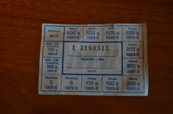 Original communist era ration cards