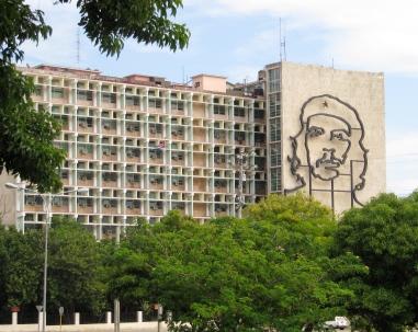 One of Che Guevara's many images, Plaza de la Revolucion