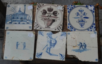 Some of the cheaper antique tiles. There are certainly gems amongst them.