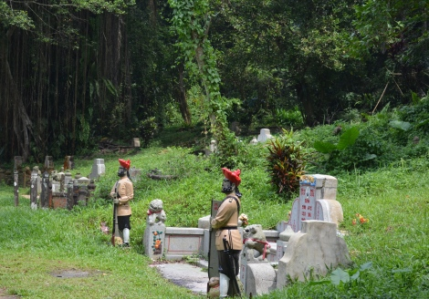 Statues of Sikh Guards to protect the graves of the wealthy