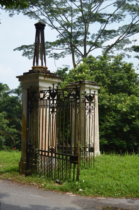 This gate was once  a grand entrance