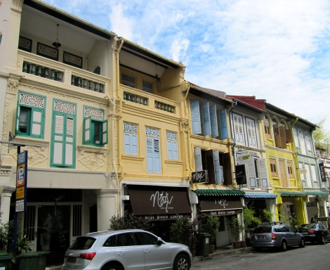 Restored shophouses