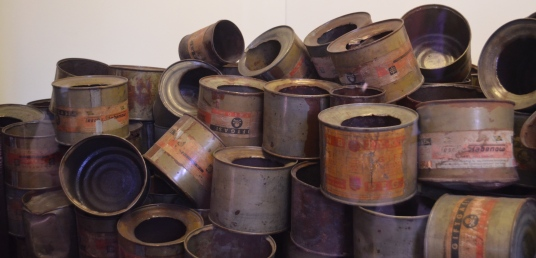 Discarded cans of Zyklon B found by Allies at the end of WWII