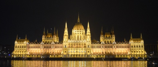 Along the Danube after dark