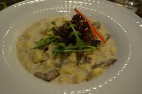 Hungarian Gnocchi with wild mushroom at Szamos Gourmet Haz