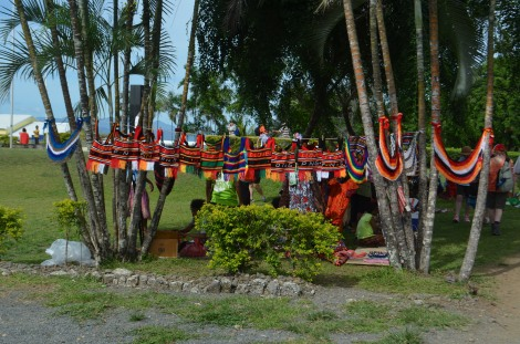 Colourful bilum bags for sale, Alotau
